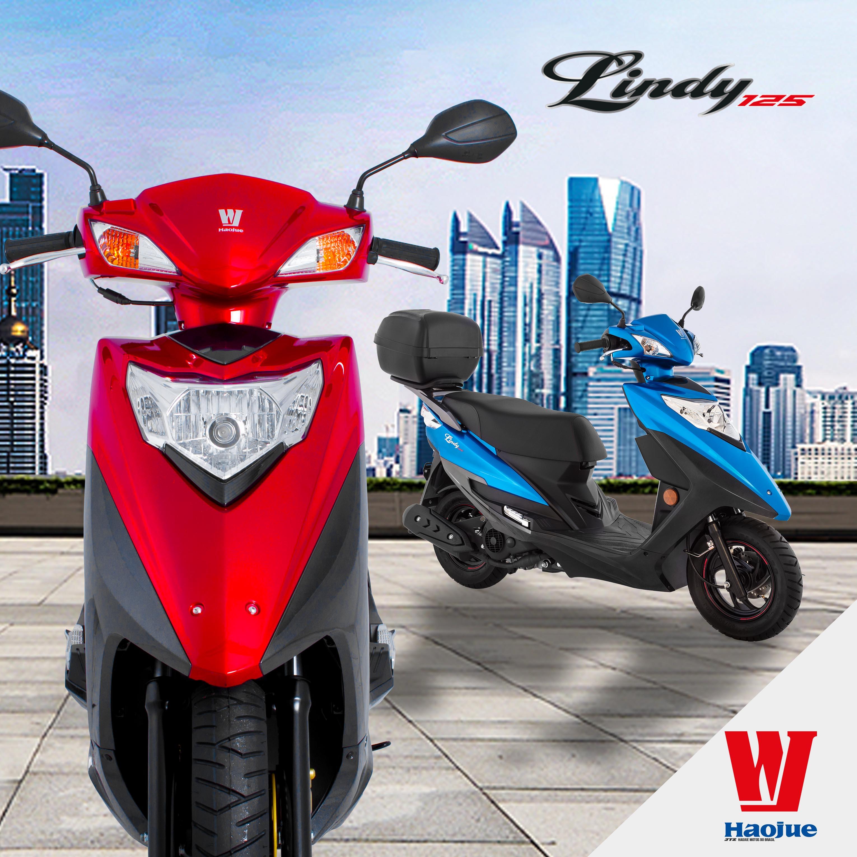 moto lindy vermelha de baixa cilindrada da haojue