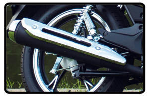 Motocicleta Chopper Road 150 Escapamento