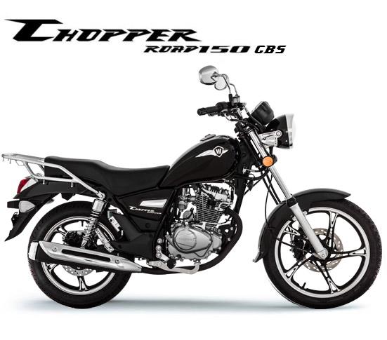 Motocicleta Chopper Road 150 Preta