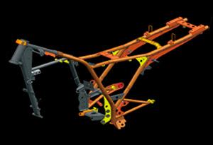 Motocicleta DK 150 Chassí